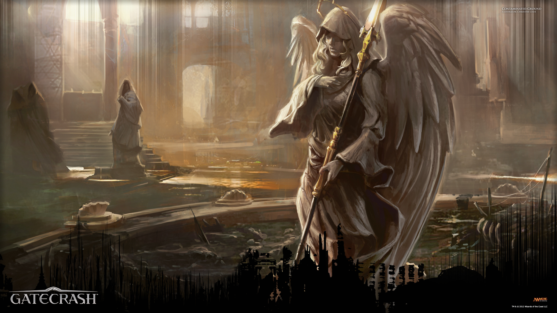 Wallpaper of the week contaminated ground magic the gathering - Magic land wallpaper ...