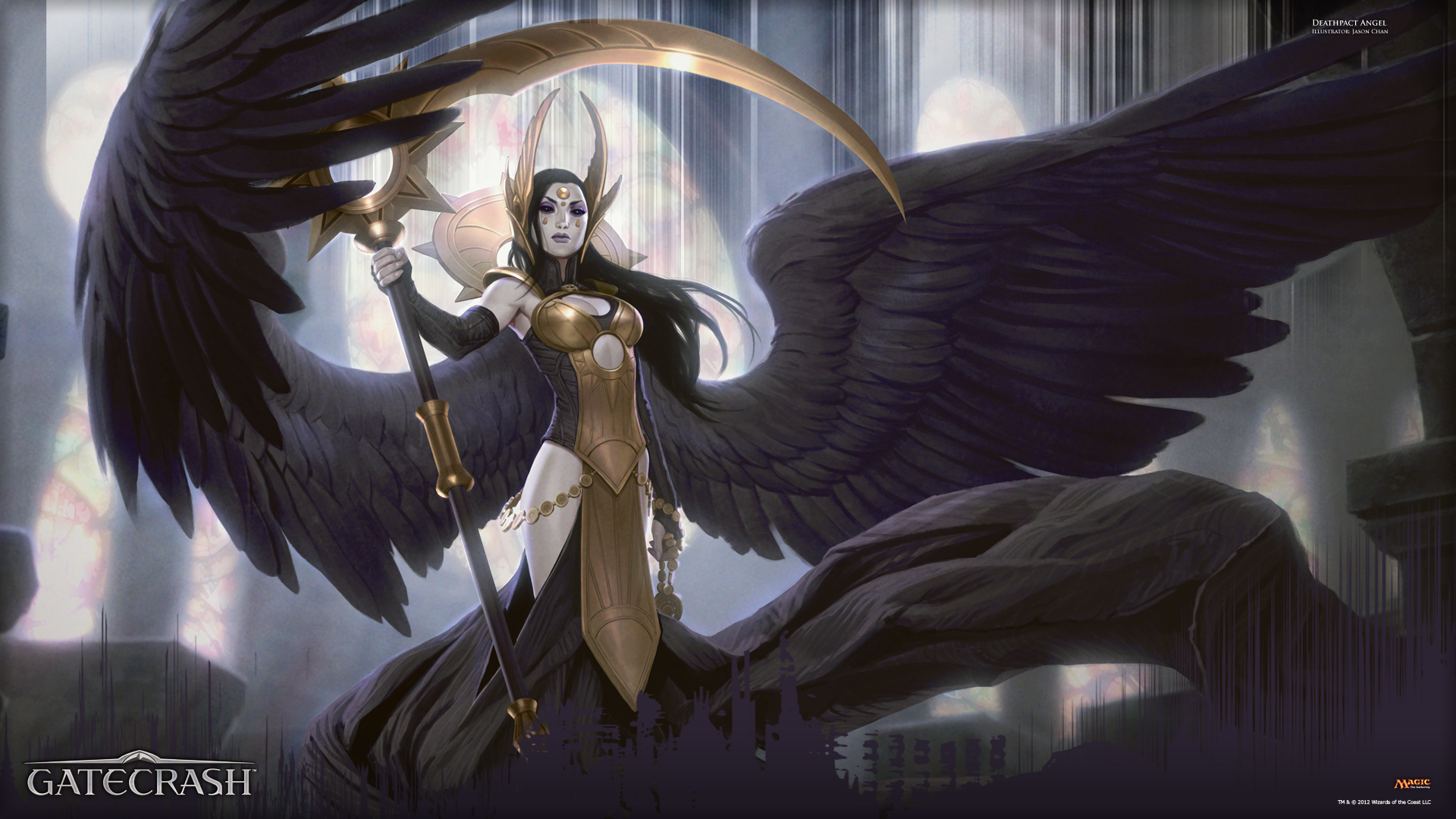wallpaper of the week deathpact angel magic the gathering