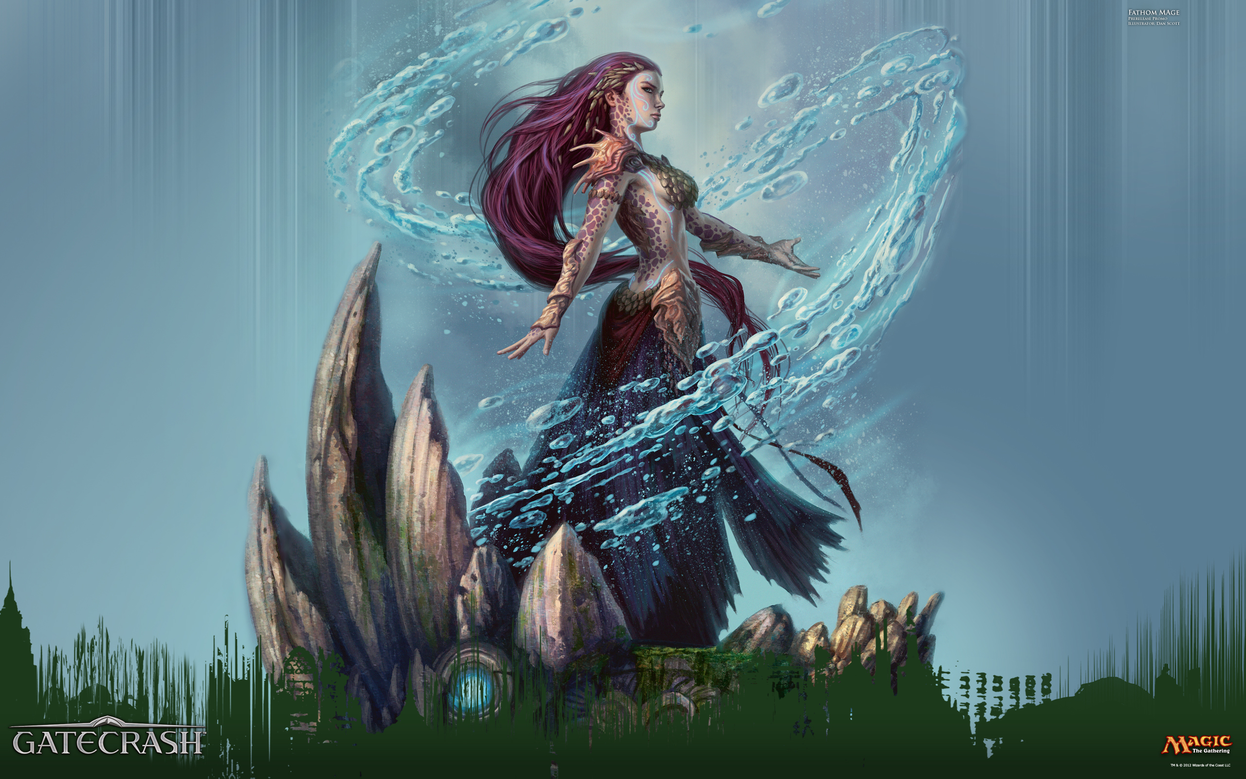 Wallpaper of the Week: Prerelease Promo Fathom Mage ...