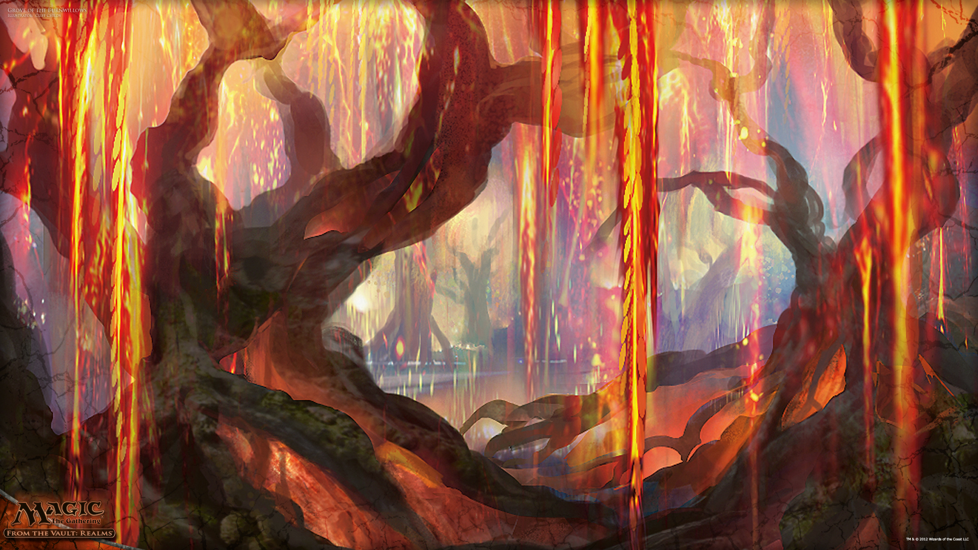 wallpaper of the week grove of the burnwillows magic