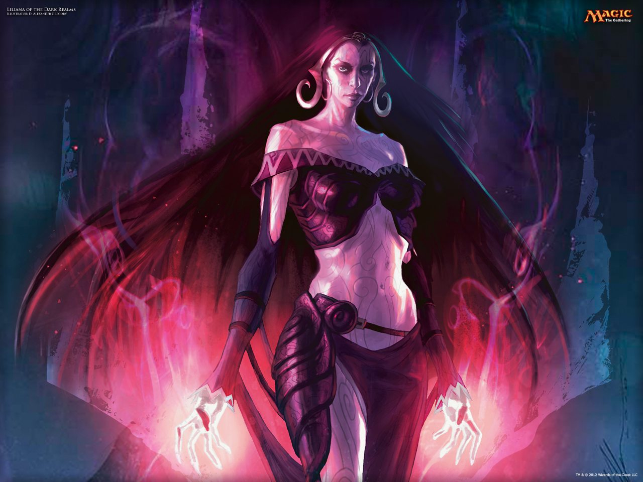 Wallpaper Of The Week Liliana Of The Dark Realms Magic The