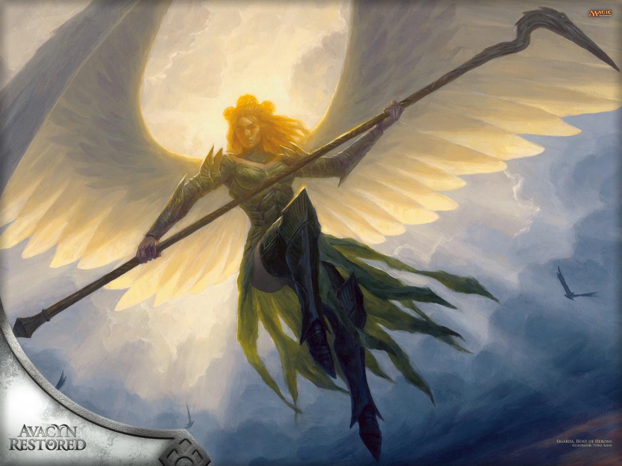 Wallpaper of the Week: Sigarda, Host of Herons | MAGIC ... Planeswalker Points