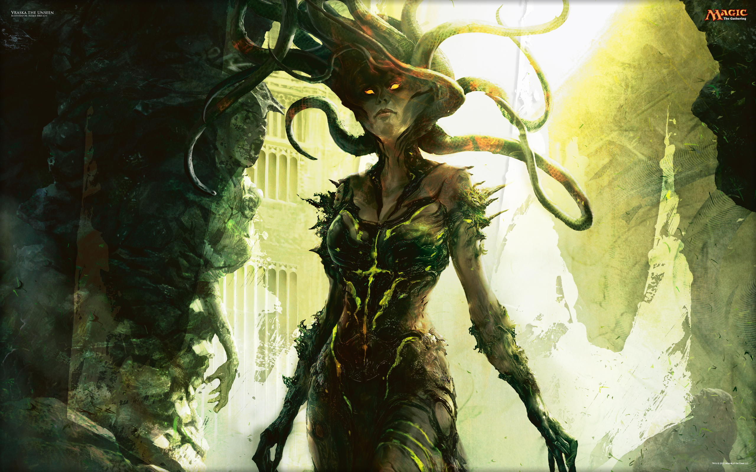 magic the gathering wallpaper  Wallpaper of the Week: Vraska the Unseen | MAGIC: THE GATHERING