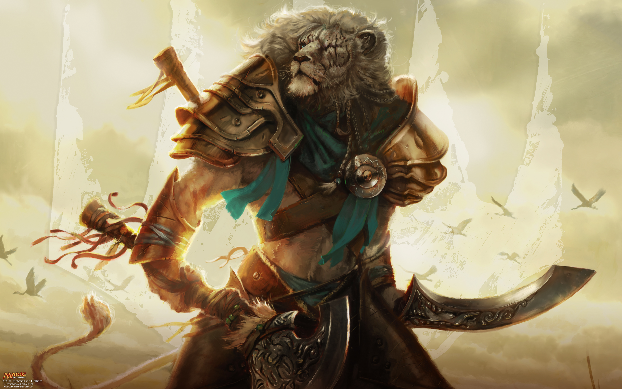 magic the gathering wallpaper  Wallpaper of the Week: Ajani, Mentor of Heroes | MAGIC: THE GATHERING