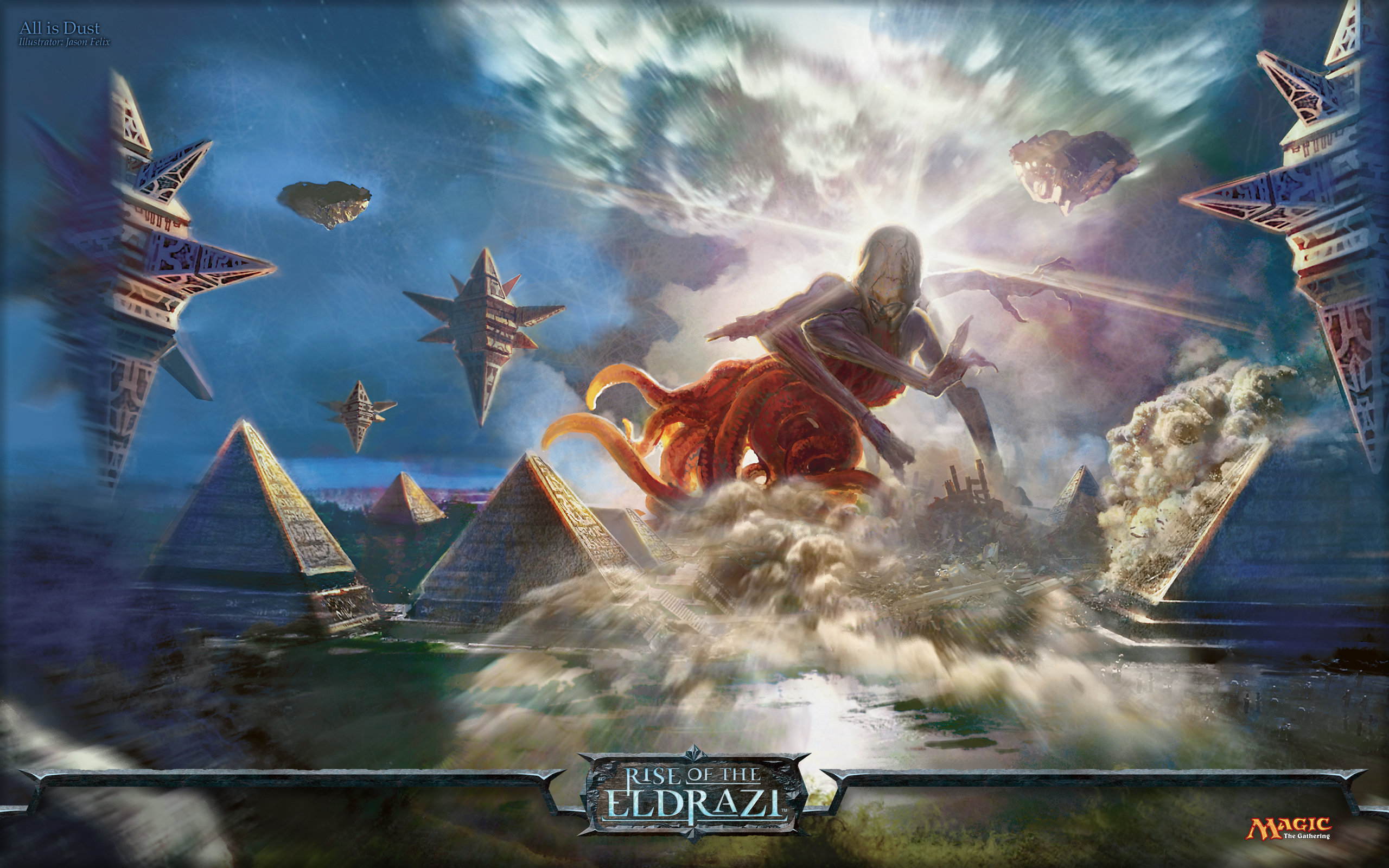 wallpaper of the week all is dust magic the gathering