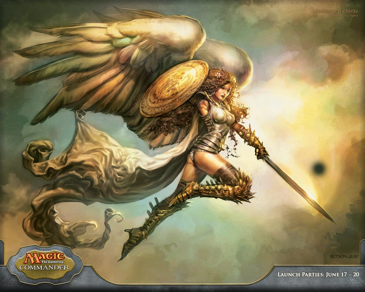 Warrior Fantasy Art Armor Angel Magic Wallpapers Hd: Wallpaper Of The Week: Archangel Of Strife