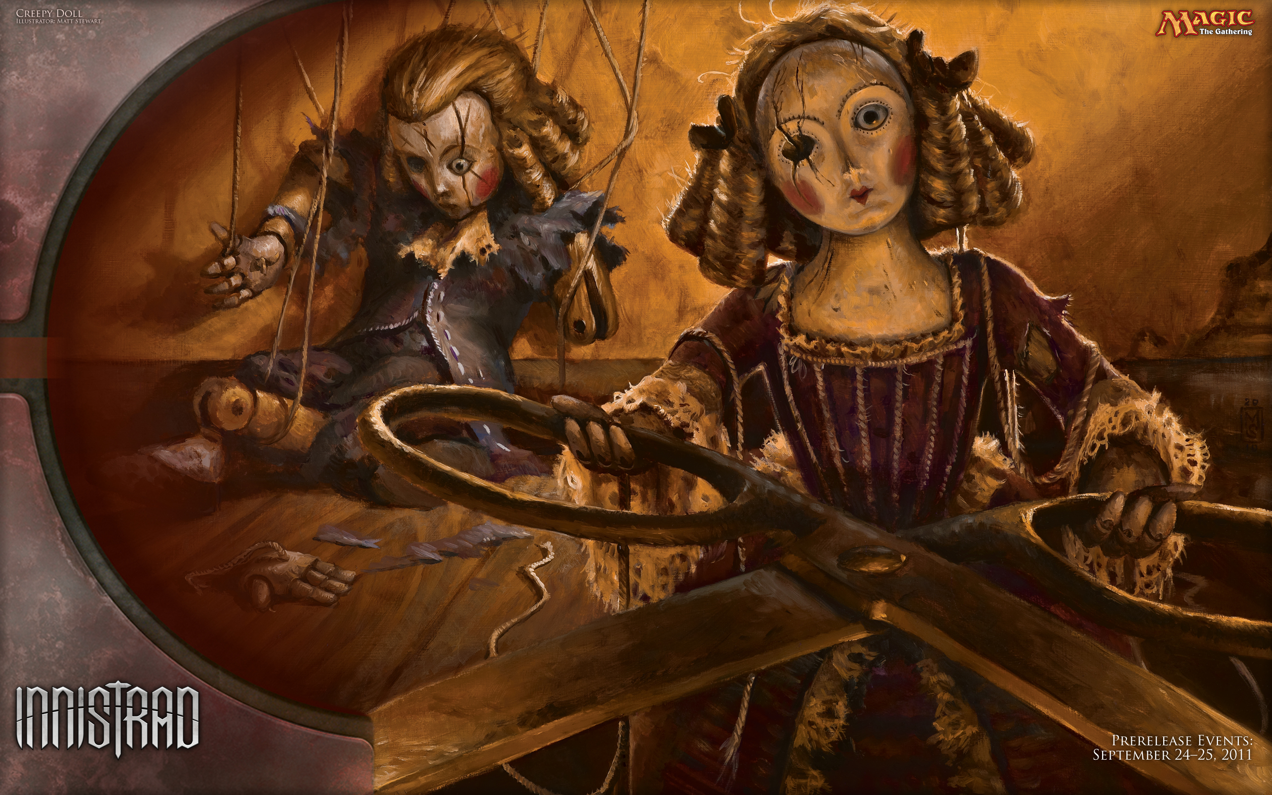 Wallpaper of the week creepy doll magic the gathering - Innistrad wallpaper ...