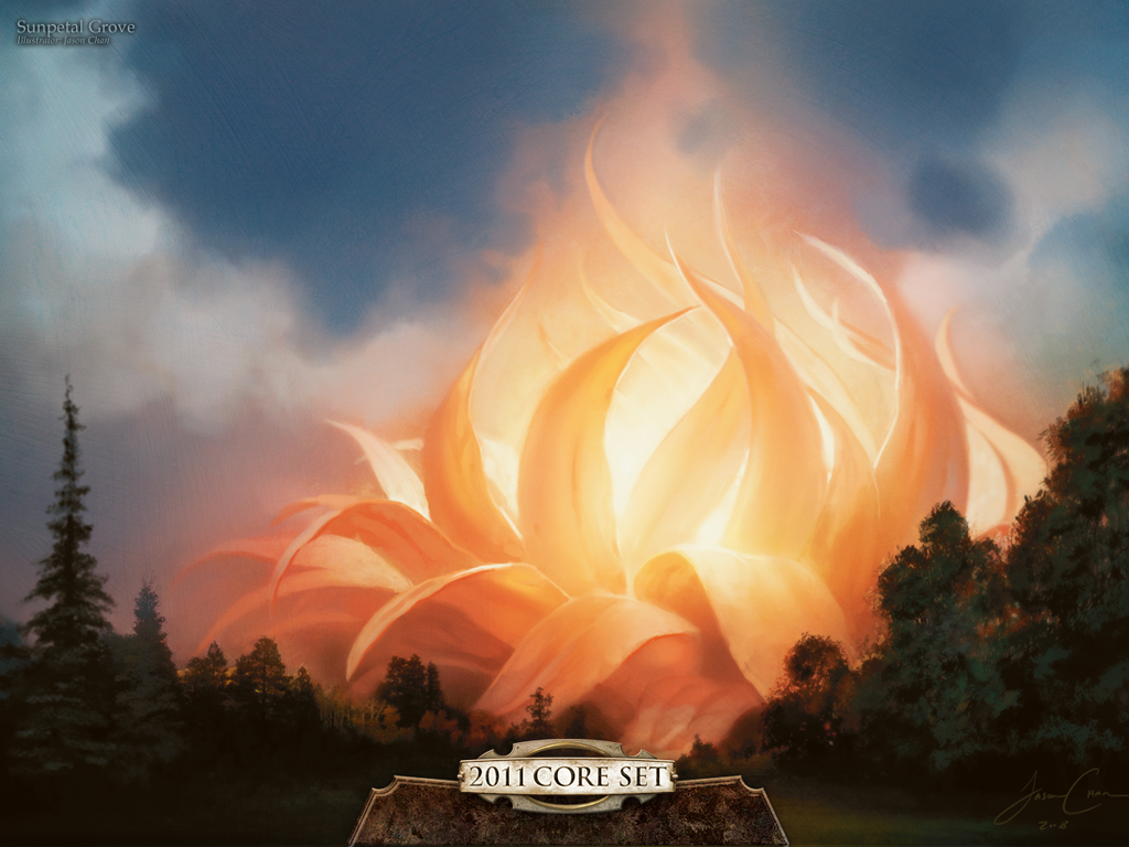 Wallpaper of the Week: Sunpetal Grove   MAGIC: THE GATHERING