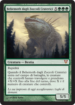 Behemoth dagli Zoccoli Craterici - Craterhoof Behemoth