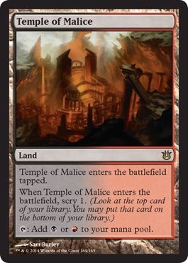 Temple of Malice - Born of the Gods - Magic: the Gathering