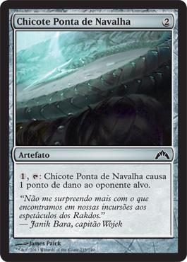 Chicote Ponta de Navalha