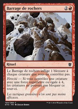 Barrage de rochers