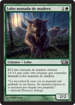 Lobo manada de madera