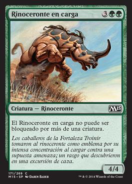 Rinoceronte en carga