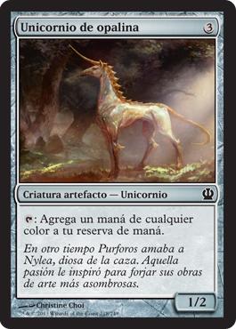 Unicornio de opalina