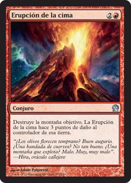 Erupción de la cima