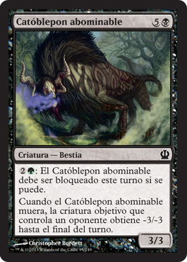 Catóblepon abominable