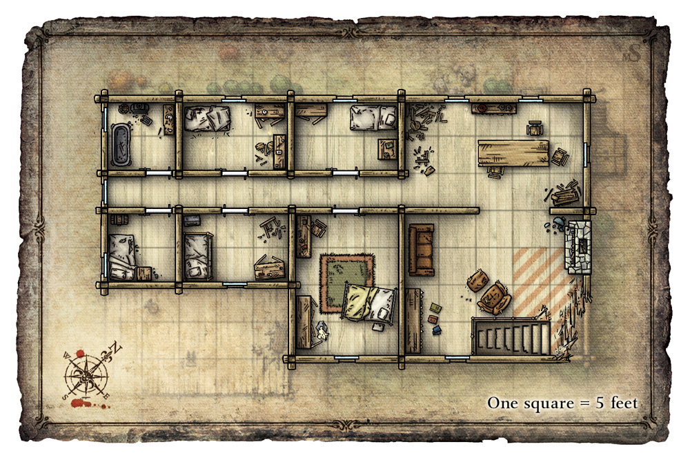 Dnd House Map Kitchen And Living Space Interior