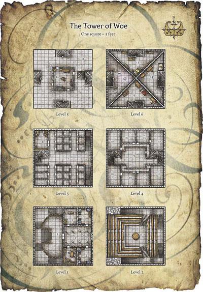 Dd Wizard Tower Map World Map Atlas