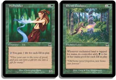 WELLWISHER Onslaught MTG Green Creature — Elf Com