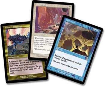 Fires of Yavimaya, Astral Slide, and Upheaval