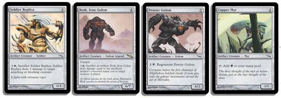 Soldier Replica; Bosh, Iron Golem; Pewter Golem; Copper Myr